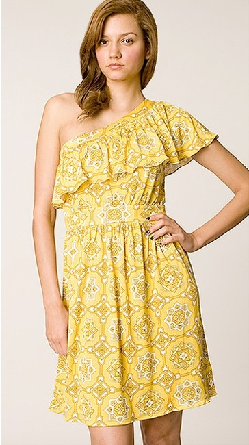 Preload https://item3.tradesy.com/images/juicy-couture-yellow-graphic-print-above-knee-cocktail-dress-size-8-m-906002-0-0.jpg?width=400&height=650