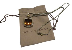 David Yurman David Yurman Albion Collection - 20mm Citrine and Diamond Pendant Enhancer with 26