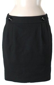 Pink Tartan Pleated Pencil Mini Skirt Black