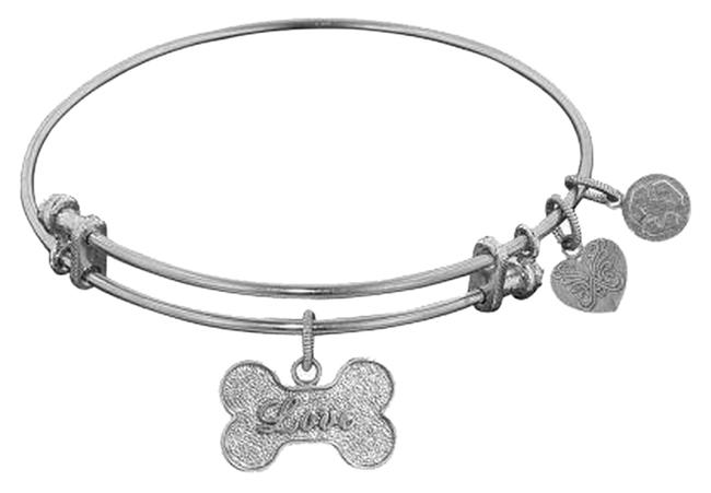 Item - Silvertone Love Dog Bone Charm Bracelet