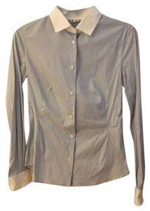 Loro Piana Button Down Button Down Shirt Blue/Whtie