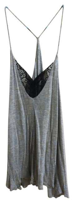 Other Lace Trim Soft Top Gray