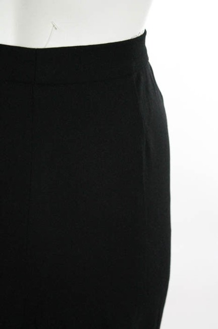 Agnona Italy Cashmere Couture Straight Pants Black