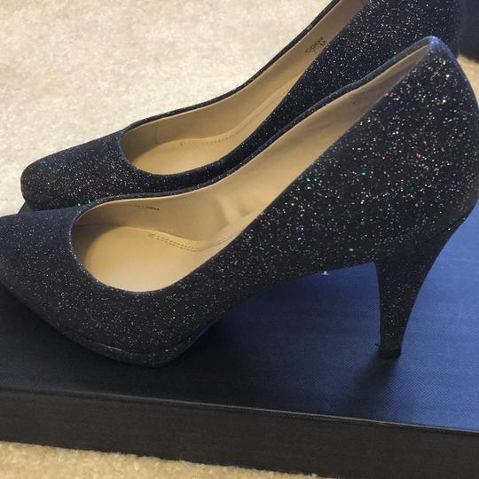 Ellen Tracy Black Glitter Pumps