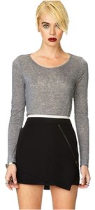 Forever 21 Black Mini Skirt Black/Taupe