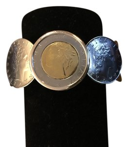 Real Lire coin cuff