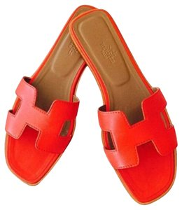 Hermès Orange/ red Sandals