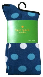 Kate Spade BRAND NEW WITH TAGS PROVENCE BLUE POLKA DOT KNEE SOCKS