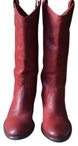 Frye Carson Pull On boot Red Boots