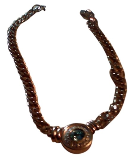 Preload https://img-static.tradesy.com/item/9061876/light-blue-and-gold-simulated-topaz-necklace-0-2-540-540.jpg