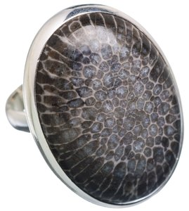 Other Stingray Coral 925 Sterling Silver Ring Size 7