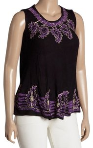 Highness Plus-size Batik Boho 70's Peasant Top