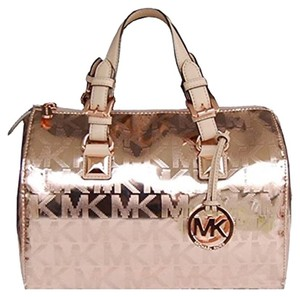 Michael Kors Small Satchel in Rose Gold
