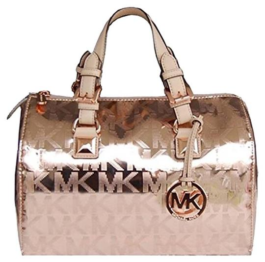 8500200592f9 Michael Kors Small Tote Leather Handbag Purse Signature Crossbody Clutch  Wallet Grayson Pvc Mk Satchel in ...