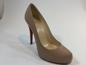 Christian Louboutin Beige Tan Patent Leather Rolando Nude Pumps