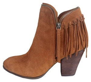 Dolce Vita Fringe Suede Bootie Brown Boots