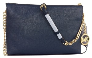 Michael Kors Leather Navy Messenger Bag