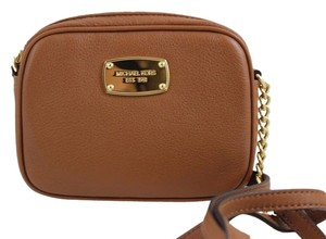 Michael Kors Hamilton Small Crossbody Leather Brown Messenger Bag