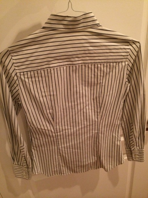 J.Crew Classic Shirt Button Up Professional Work Shirt Shirt Striped Shirt Collared Shirt Work Wear To Work Button Down Shirt White