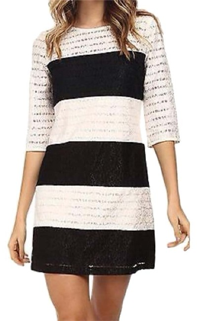 Preload https://item2.tradesy.com/images/jessica-simpson-black-and-white-above-knee-cocktail-dress-size-4-s-9063331-0-2.jpg?width=400&height=650