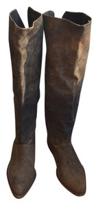 Gee WaWa Boot Brown suede over the knee Boots