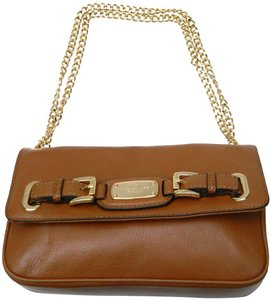 Michael Kors Chain Mk Leather Shoulder Bag