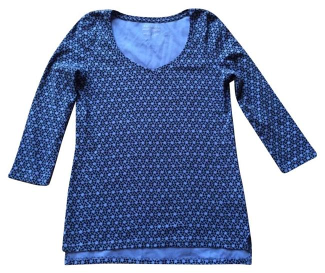 Preload https://item5.tradesy.com/images/talbots-blue-geometric-stretch-weekend-tee-shirt-size-6-s-9063664-0-2.jpg?width=400&height=650