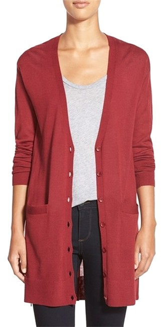 Preload https://img-static.tradesy.com/item/9063877/halogen-red-cardigan-size-2-xs-0-1-650-650.jpg
