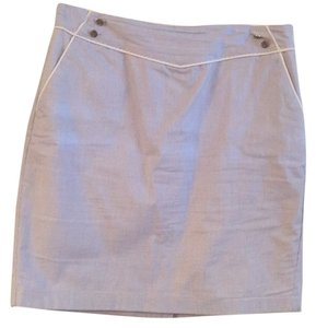 Vineyard Vines Skirt Blue searsucker