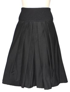 Donna Karan Made In Usa Fashionista Vintage Skirt Black