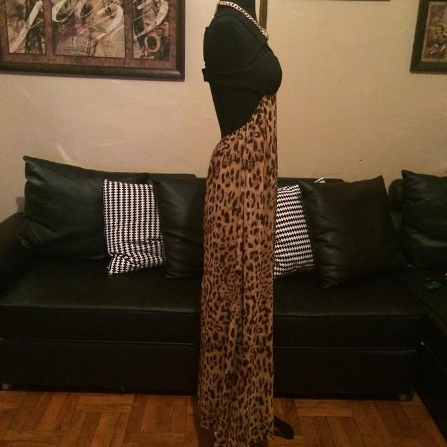Black/Leopard Maxi Dress by Other