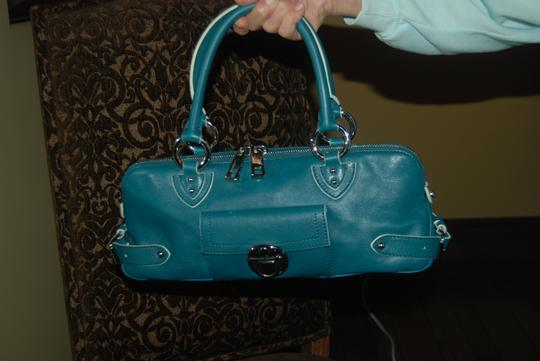 Marc Jacobs Mint Condition Leather Calfskin Satchel in Aquamarine