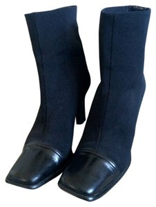 Via Spiga Patent Leather Strech Contour Black Boots