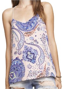 Express Top Pink/blue paisley