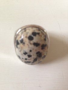 L'una by R.F.M.A.S. Silver and leopard stone ring by L'una by R.F.M.A.S.
