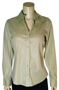 Chico's Size 0 P1864 Button Down Shirt light green