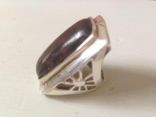 Other Sterling silver and petrified wood ring