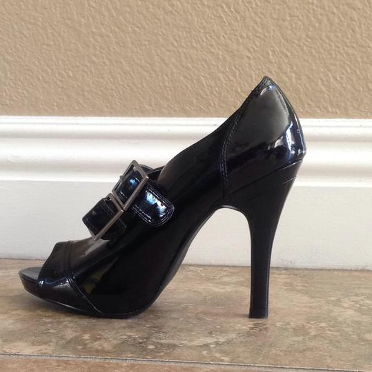 Steve Madden Peep Toe Belted Bootie Black Formal