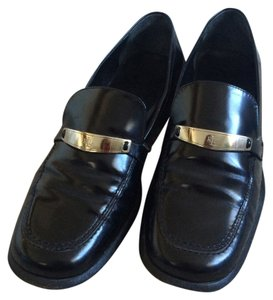 Ralph Lauren Ralp Leather Loafer Black Flats
