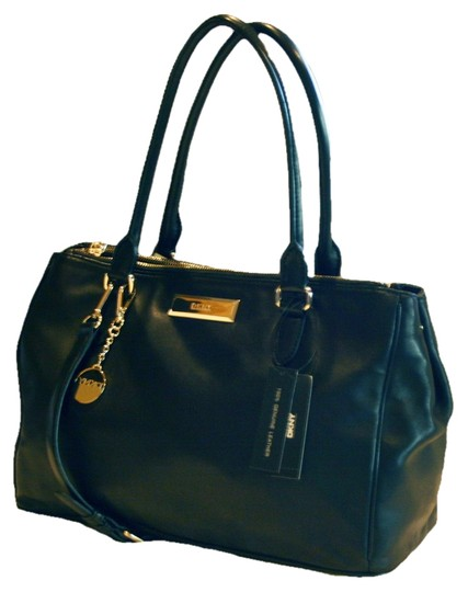 Preload https://item3.tradesy.com/images/dkny-soft-work-black-leather-satchel-9065947-0-2.jpg?width=440&height=440