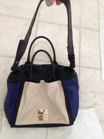 See by Chloé Color Leather Tote in Black, Blue, Off White