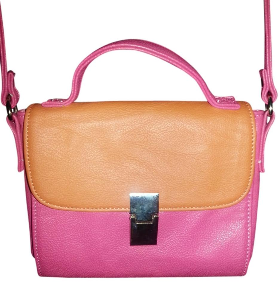 5de4f138567 Call It Spring Pink & Orange Polyvinyl Cross Body Bag 28% off retail