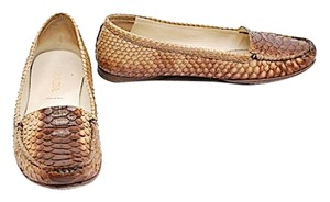 Prada Ombre Brown Snakeskin Brown Ombre Flats