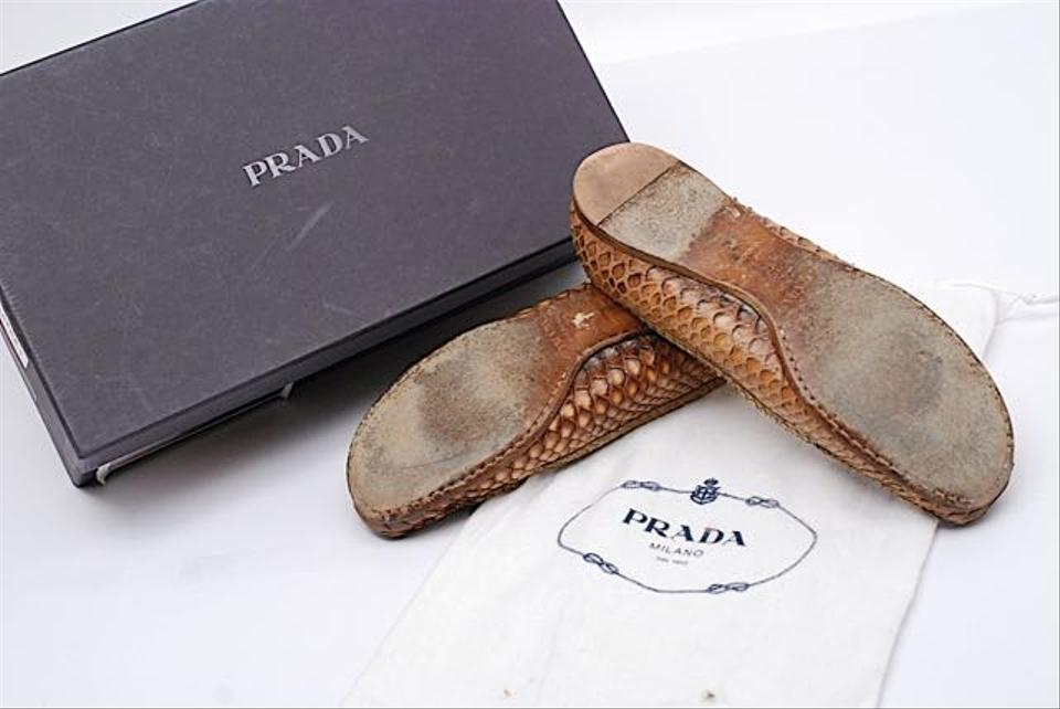 b37f0be74b9 Prada Brown Ombre Box Colored Snakeskin Loafers Very Good Condition ...