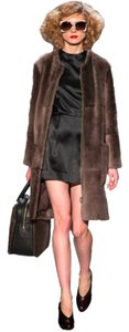 Marc by Marc Jacobs Shearling Fur Runway Quartz Leather Designer Fur Coat