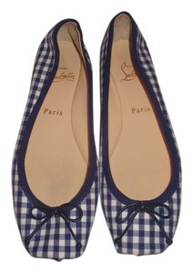 Christian Louboutin Blue Gingham Flats