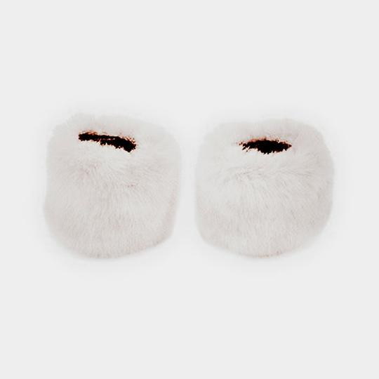 Other White Faux Fur Arm Warmer Gloves