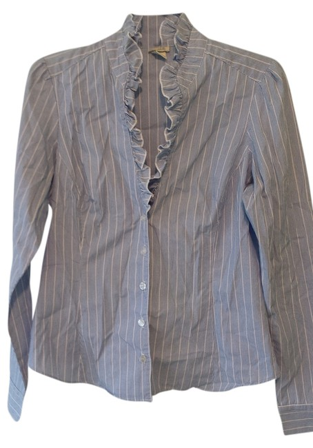 Preload https://img-static.tradesy.com/item/9067906/anthropologie-blue-with-pinstripes-blouse-button-down-top-size-6-s-0-2-650-650.jpg