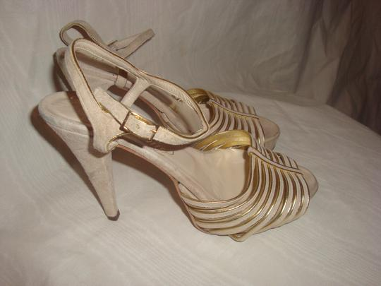 Alejandro Ingelmo Tan/Gold Sandals