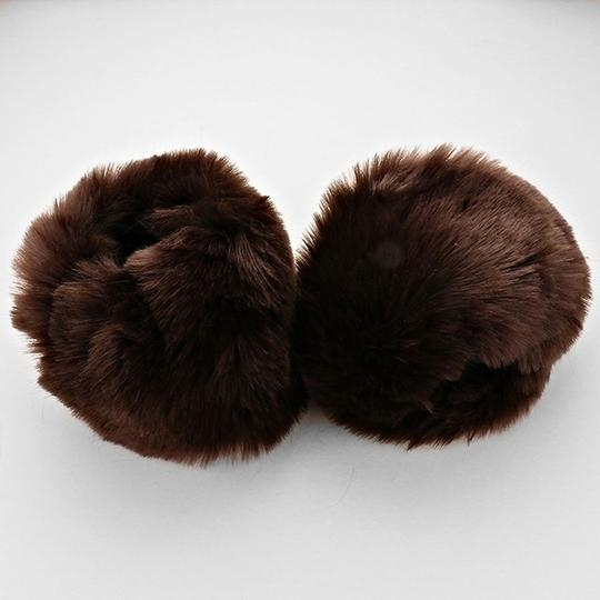 Other Brown Faux Fur Arm Warmer Gloves